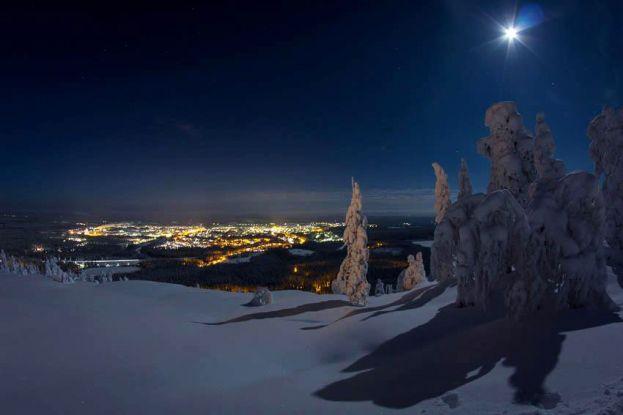 Vy från Kanisbacken mot Älvsbyn. Foto: Marcel Köppe.