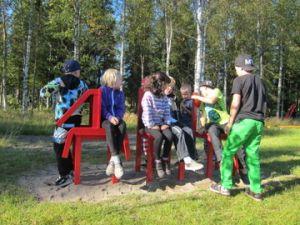 Elever på Knut Lundmarkskolan