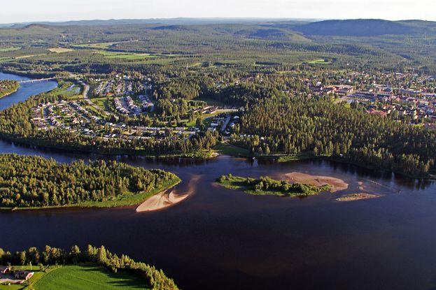 Vy över Älvsbyn. Foto: Peter Lundberg