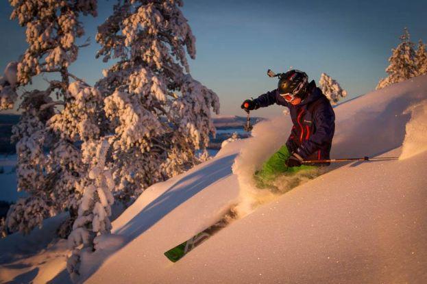 Daniel Nordebo åker offpist i Kanis. Foto: Marcel Köppe