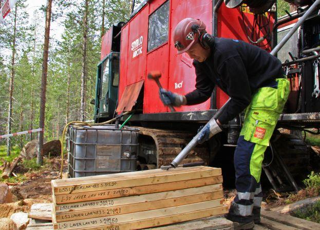 Borrning i Laver. Foto: Peter Lundberg.