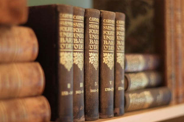 Böcker på bibliotek. Foto: Peter Lundberg.