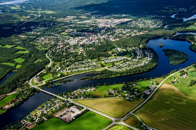 Vy över Älvsbyn, foto Bergslagsbild AB