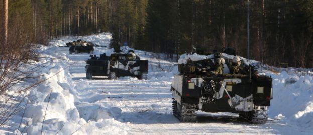Militär vinterövning