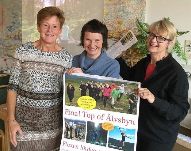 Arrangörsgruppen för Top of Älvsbyn: Barbro Nilsson, Katarina Sundman (båda boende i Vistträsk) och Maria Söderberg (Arjeplog/Enskede gård).