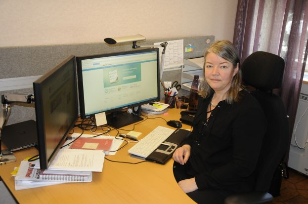 Benita Jonsson, upphandlare på Älvsbyns kommun. Foto: Robin Nilsson