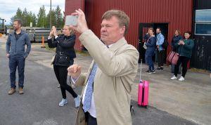 Landshövding Björn O Nilsson ville bevara minnet av upplevelsen i form av fotografier.