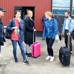 Ett förväntansfullt sällskap som nyss landat på Europas största landbaserade provplats mitt i den norrbottniska vildmarken.