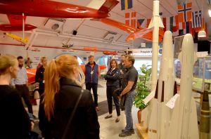 Mats Hakkarainen, provplatschef, gav en intressant beskrivning av Provplats Vidsel i RFN-museet.