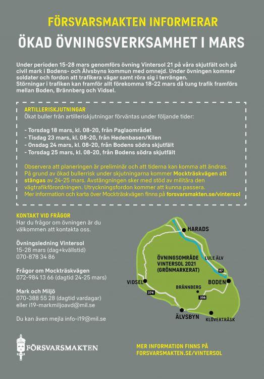 Affisch med karta - Vintersol 21