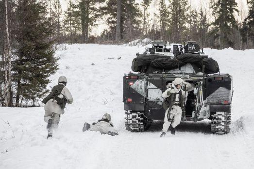 Militärövning, Foto Mattias Hellgren, Försvarsmakten